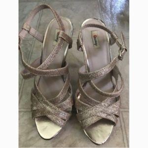 Olsenboye Strappy Stiletto Womens Glitter Shoes 6M